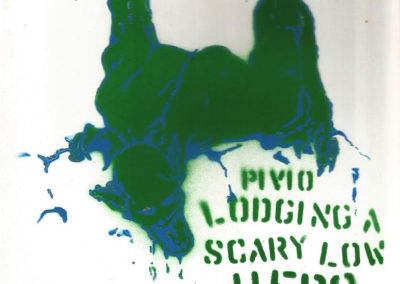 Lodging a Scary Low Hero - green and blue CD cover